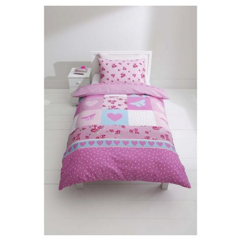 Tesco Kids Rose Patch Duvet Cover Set single