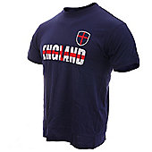 England Adults Football T-Shirts - Navy