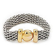 Two-Tone Mesh Magnetic Bracelet - 18cm Length