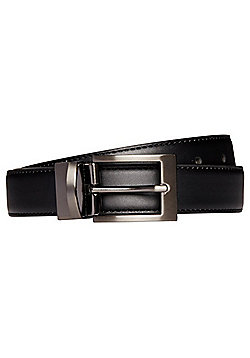 F&F Reversible Roller Belt - Black & Burgundy