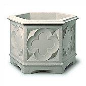 Stewarts Gothic Hexagonal Planter 39cm Stone Effect