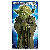 Star Wars Yoda Your Birthday It Is Card