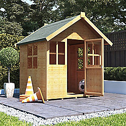 Mad Dash Bunny Max Wooden Playhouse, 4ft x 4ft