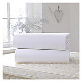 Clair De Lune Cot Bed Sheets Flat Sheets Wht