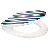 Tesco Blue Stripe Toilet Seat