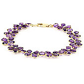 QP Jewellers 5.5in 20.70ct Amethyst Blossom Bracelet in 14K Gold