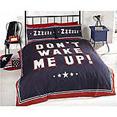 Rapport Varsity Dont Wake Me Up Single Quilt Set Multi Coloured