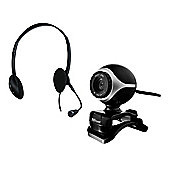 Exis Chatpack - Headset Headphones/Mic & Webcam