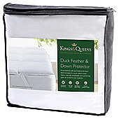 Kings & Queens Duck Feather and Down Mattress Protector Single
