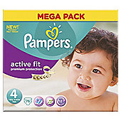 Pampers Active Fit Size 4 Mega Pack - 76 nappies