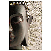 Buddha Printed Canvas With Glitter 40 x 60cm