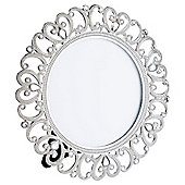 Tesco Metal Diamante Round Photo Frame 3.5 x 3.5""