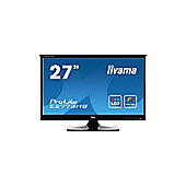 Iiyama ProLite E2773HS (27 inch) LED Backlit LCD Monitor 1200:1 300cd/m2 (1920x1080) 1ms D-Sub/DVI-D/HDMI/Headphone (Black)