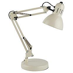 Tesco Lighting Retro Desk Lamp, Ecru Cream