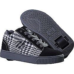 Heelys Straight Up Black/Plaid/Charcoal/White Heely Shoe