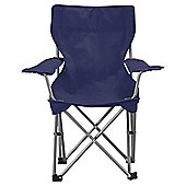 Tesco Kids' Folding Camping Chair, Navy Blue