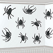 Halloween Decorations Glitter Spider Cutouts - 20.3cm Halloween Decorations (9pk)