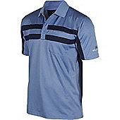 Stuburt Mens Clubhouse Double Stripe Golf Polo Shirt - Navy