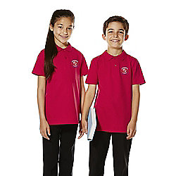 Unisex Embroidered School Polo Shirt years 07 - 08 Red