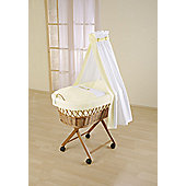 Leipold Baby Wicker Drape Crib