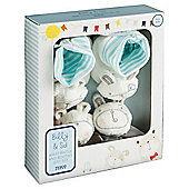 Tesco Wrist Rattle & Booties Gift Set, Billy & Sid