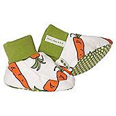 Carrot print booties - Orange