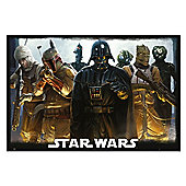 Gloss Black Framed Star Wars Bounty Hunters Poster