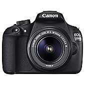 Canon EOS 1200D Digital SLR Camera, Black, 18MP. 3inch LCD Screen, 18-55 Lens
