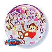 "Love Monkey Balloon - 22"" Bubble (each)"