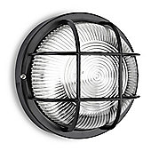 Pendle IP44 Round LED Bulkhead Light in Black