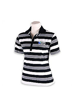 Official Rugby World Cup 2011 Womens Goal Post Polo Shirt - Black