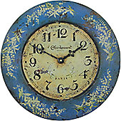 Roger Lascelles Clocks Tin Lily of the Valley Wall Clock