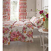 Catherine Lansfield Izzy Pink Floral Duvet Cover Set - King