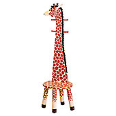 Teamson Giraffe High Backed Coat Stand with Stool