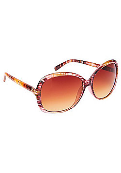 F&F Wood Effect Oversized Sunglasses