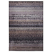 Esprit Graphic Edge Taupe Woven Rug - 140 cm x 200 cm (4 ft 7 in x 6 ft 7 in)