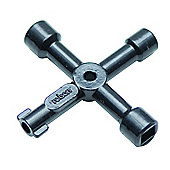 Rolson Quality Tools 4 Way Service Utility Key