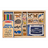 Wooden Animal Stamp Set - Melissa & Doug