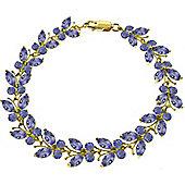 QP Jewellers 7in 7.80ct Tanzanite Butterfly Bracelet in 14K Gold