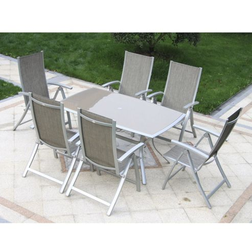 Buy Outsunny 7pc Garden Table Chairs Set Outdoor Dining