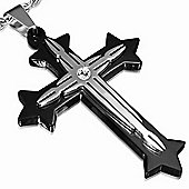 Urban Male Two Colour Stainless Steel Cross Pendant For Men