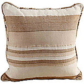 Homescapes Cotton Morocco Striped Beige Prefilled Cushion, 45 x 45 cm
