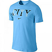 2013-14 Man City Nike Core Plus Tee (Blue) - Blue