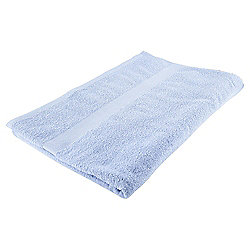 Tesco Basics Bath Sheet, Powder Blue