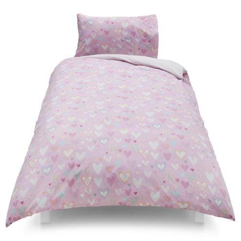 buy tesco kids patchwork heart single duvet set from our. Black Bedroom Furniture Sets. Home Design Ideas