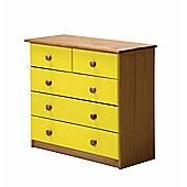 Verona Drawer Chest 3 + 2 Colour Antique and Lime