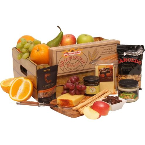 luxury fruit hamper with fizz (FB17)