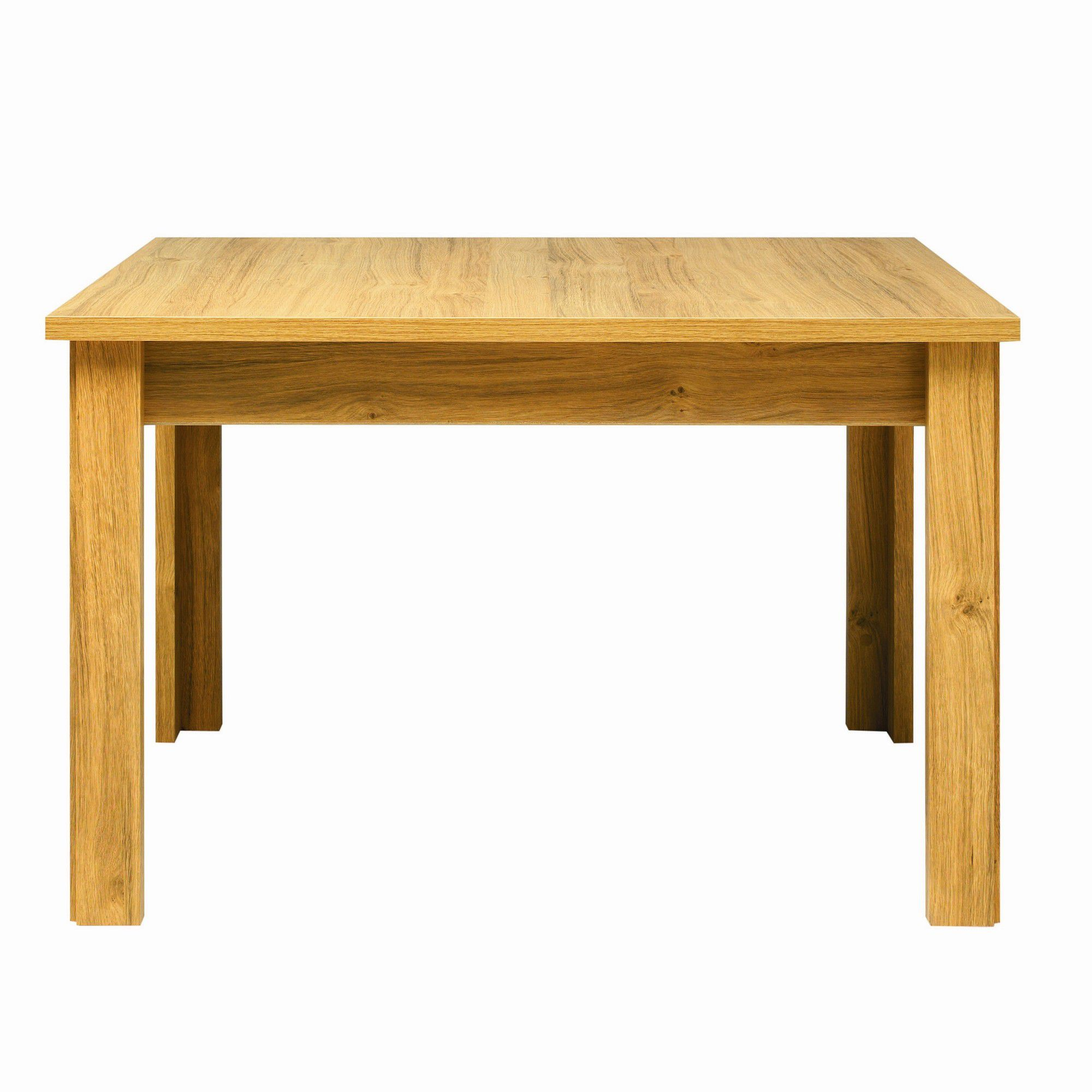 Other Caxton Strand Four Leg Oblong Fixed Top Dining Table in Oak - 120cm