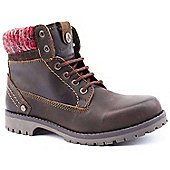 Wrangler Ladies Creek Wool Brown Ankle Boots