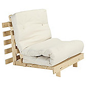 Helsinki Pine Single Futon With Mattress Natural